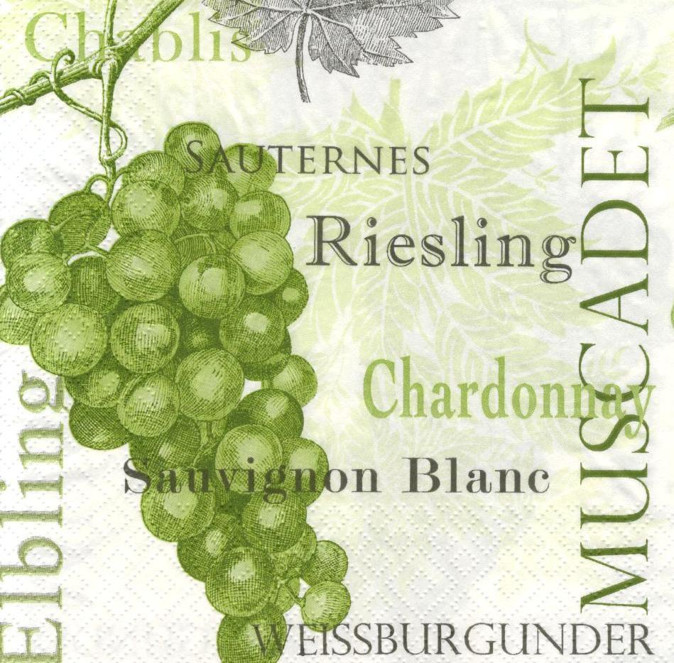 Салфетки для декупажа Зелёный виноград 5741