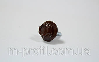 Саморез кровельный 4,8*19 (8017 RAL коричневый) , фото 2