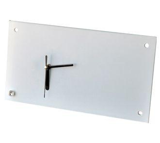 Часы стеклянные для сублимации настольные прямоугольные (30х16 см).