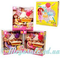 Кукла Defa Happy Школа 8298: 3 вида, парта + рюкзак + стульчик