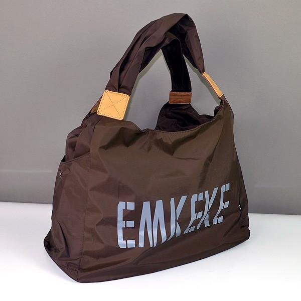 Сумка дорожная, спортивная, пляжная женская коричневая Emkeke 915
