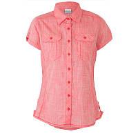 Женская рубашка Columbia CAMP  HENRY™  SHORT SLEEVE SHIRT коралловая AL7979 673