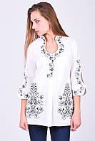 """Вышитая блузка-туника женская """"Капелька"""" с оригинальными рукавами"""