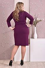 Стильное платье больших 60+ размеров 0195 фиолетовое, фото 3