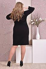 Стильное платье больших размеров 0195 черное, фото 3