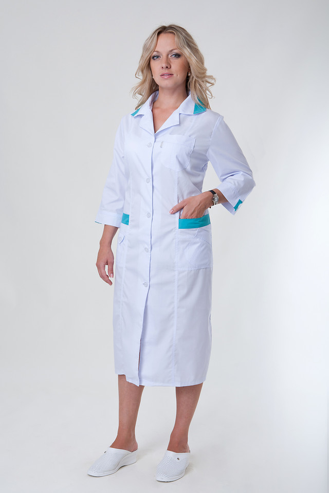 Медицинский халат  большого размера