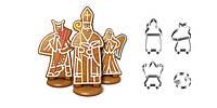 Пряниковый Святой Николай с ангелами DELICIA, набор формочек