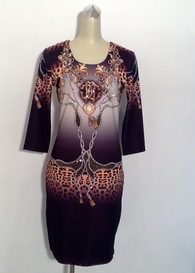 Платье женское яркое Roberto Collina молодежное рукав 7/8 модное стильное