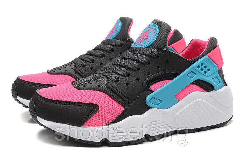 Женские кроссовки Nike Air Huarache Black/Pink/Dusty Cactus