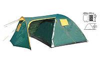Палатка 4-х местная FRT-206-4 (200+240)х240х170см (полиэст 190T, дно PU 1000мм, с тент, швы прокл)