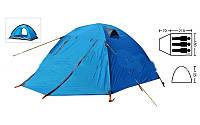 Палатка 3-х местная с тентом и коридором SY-A15 (р-р 0,7+2,10+0,5х1,80х1,35м, нейлон)