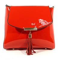Лаковая сумочка через плечо 5036 красная, расцветки в наличии