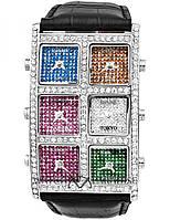Наручные часы IceLink 6 time zone (diamond, white) Айс Линк 6 часовых поясов ( диамант, белый )