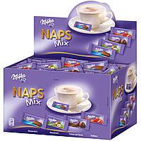Большая коробка мини-шоколада Milka Naps mix 355шт., 1702г