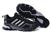 Мужские беговые кроссовки Adidas Marathon (адидас марафон) черные
