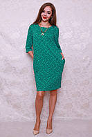 Прямое платье из легкой трикотажной ткани