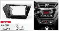Рамка переходная Carav 11-412 Kia Rio/K2 2011+ Piano Black