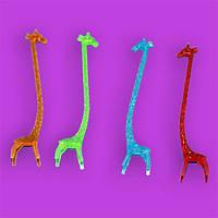 Мешалка пластиковая для коктейля Жираф 14 см(уп.100 шт)