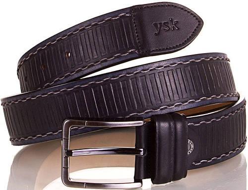 Замечательный мужской кожаный ремень Y.S.K. (УАЙ ЭС КЕЙ) SHI4085-2 черный