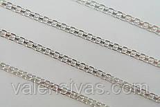 Цепочка серебряная - плетение Бисмарк плоский