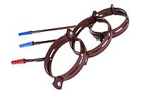 Держатель трубы металл. L-160 для водосточной системы Profil, 130 мм