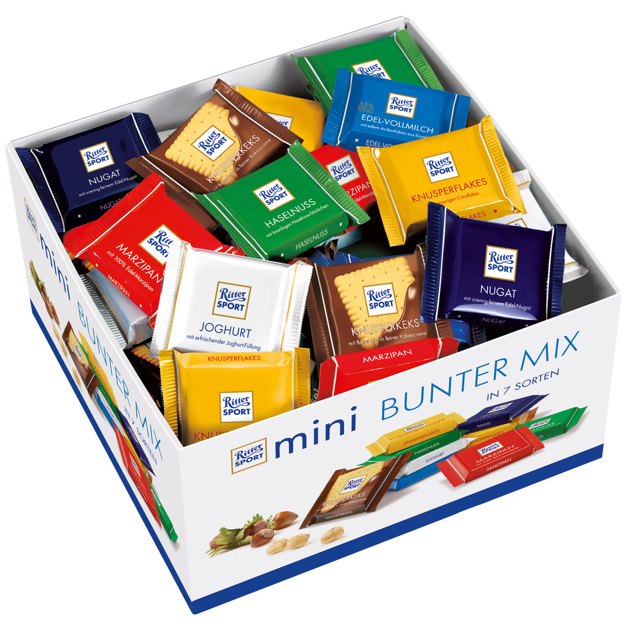 Коробка мини-шоколадок Ritter Sport Mini Bunter Mix 84шт., 1400г