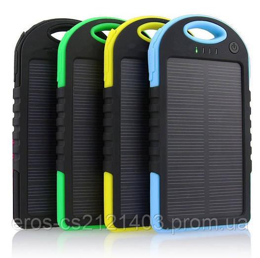 Внешний аккумулятор Power Bank 10 000 mAh на солнечной батарее