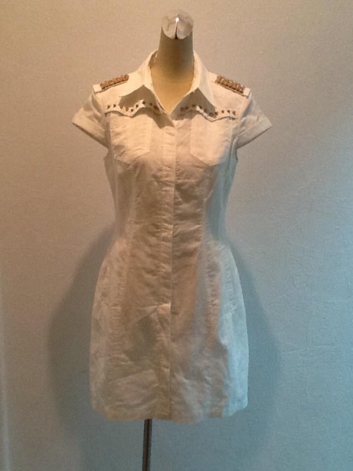 Платье Dolce&Gabbana сафари белое