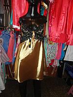 Атласные ночные сорочки золото