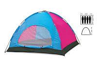 Палатка 4-х местная SY-013 (р-р 2,0х2,2х1,35м, PL)