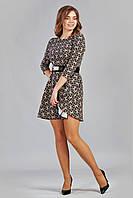 Праздничное платье с красивым принтом
