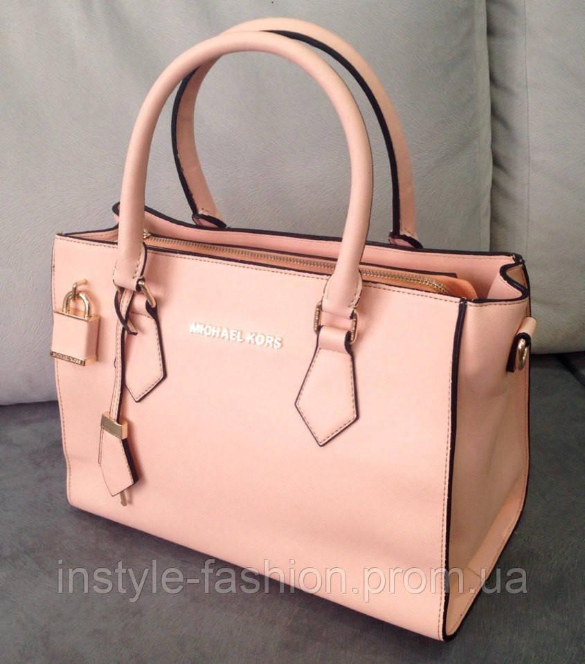 Розовая квадратная сумка Майкл корс нежно розовый модный цвет весна 2016