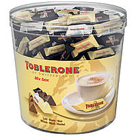 Большая банка мини-шоколадок Toblerone Tiny 113шт. Mix Box, 904г