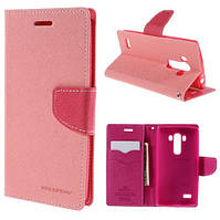 Чехол книжка Mercury Goospery Fancy Dairy для LG G4S Dual H734 / H736 Pink