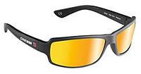 Очки с защитой от ультрафиолета плавающие Cressi Sub Ninja; гибкие; зеркальные стёкла; оранжевые