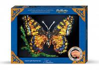 Мозаика из пайеток в рамке Бабочка