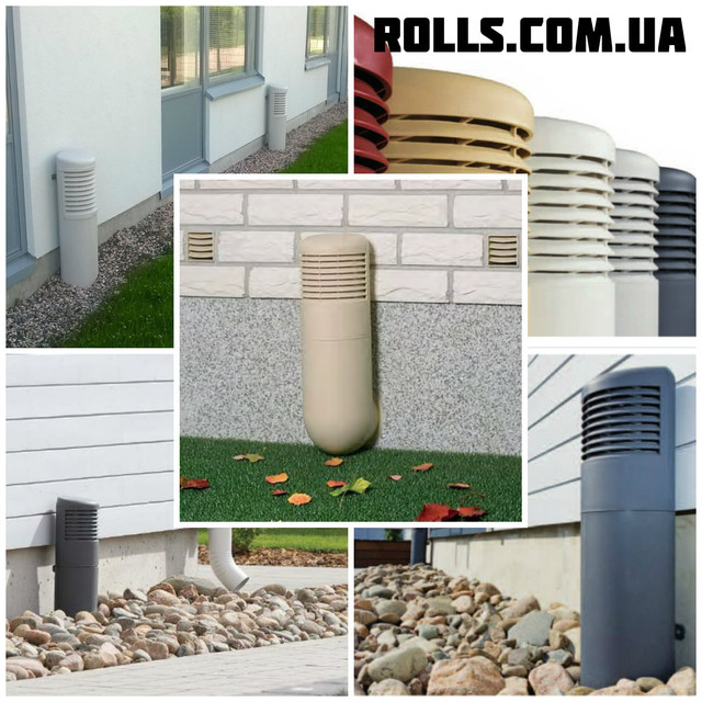 Цокольные дефлекторы для вентиляции подвальных и полуподвальных помещений.