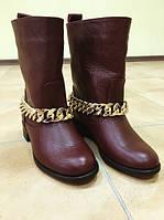 Сапоги женские натуральная кожа без каблука