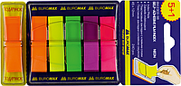 Закладки пласт диспенсер  POP-UP 45х12 5+1 40 лист BM.2303-98 (неон)