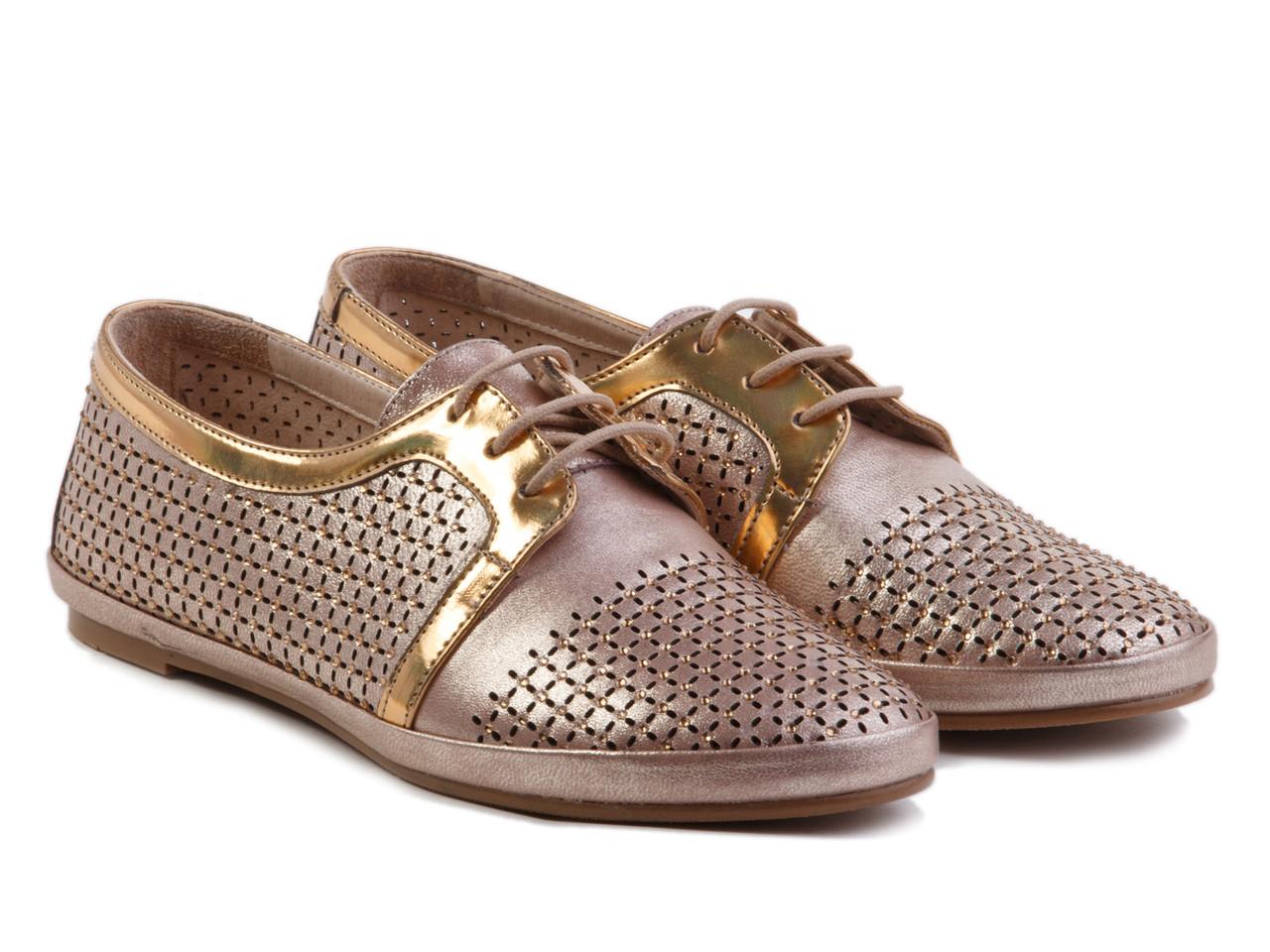 Туфли Etor 5375-09 золотистые, фото 1