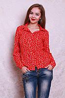 Рубашка из штапеля модной расцветки с якорьками