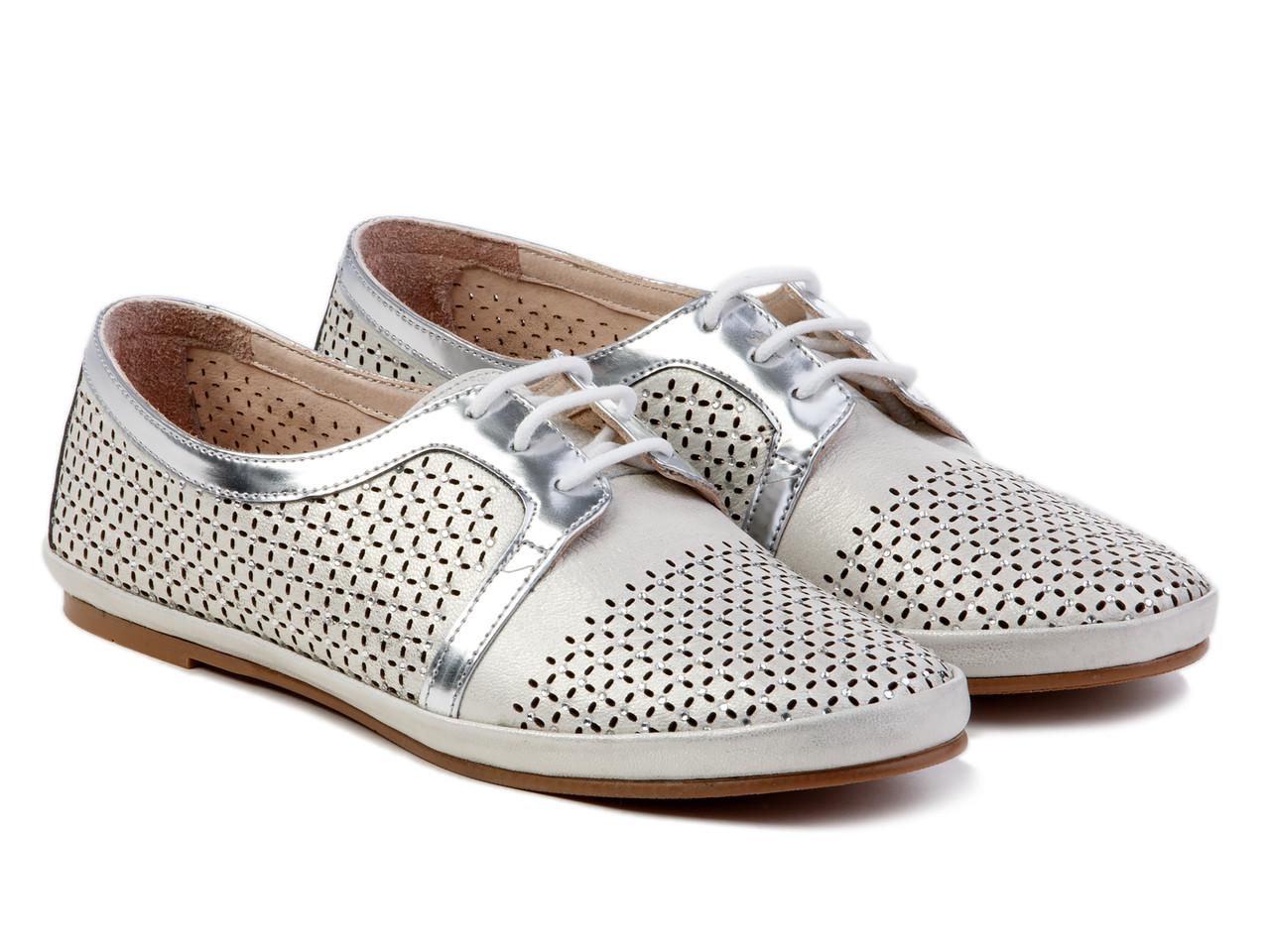 Туфли Etor 5375-11 39 серебристые