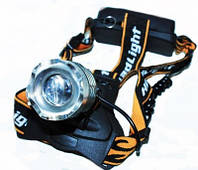 Фонарь налобный Police, 12V, 2188/8021-XPE, 2 аккумулятора 18650, функция zoom, фонарь на лоб,
