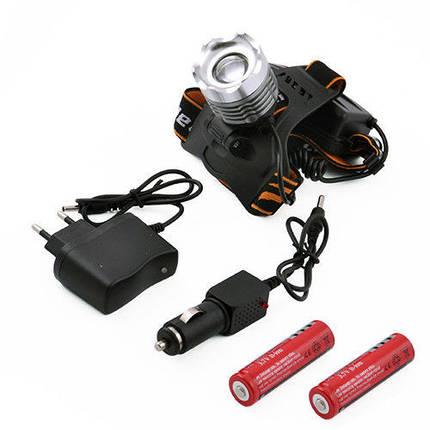 Фонарь налобный Police, 12V, 2188/8021-XPE, 2 аккумулятора 18650, функция zoom, фонарь на лоб, , фото 2