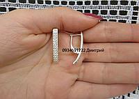 Подовжені сережки з розсипом каміння, фото 1