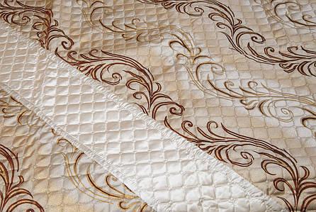 Покрывало-плед, орнамент коричневый, фото 2