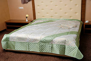 Покривала-плед, орнамент зелений, фото 2