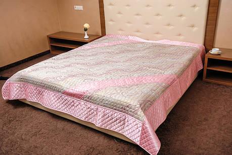 Покрывало-плед, орнамент розовый, фото 2