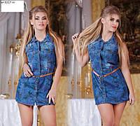 Сорочка - туніка джинсова ат 3217 гл