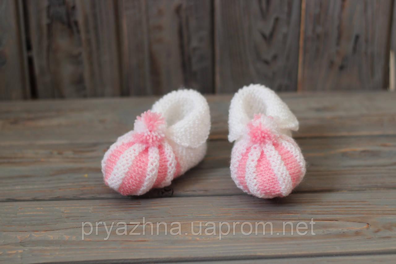 Вязаные пинетки для новорожденных - Вязаные аксессуары, вязаный декор,  пряжа для ручного вязания в b74f294c3a9